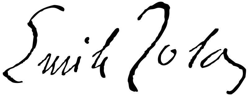 Эмиль Золя (фр. Emile Zola). Подпись