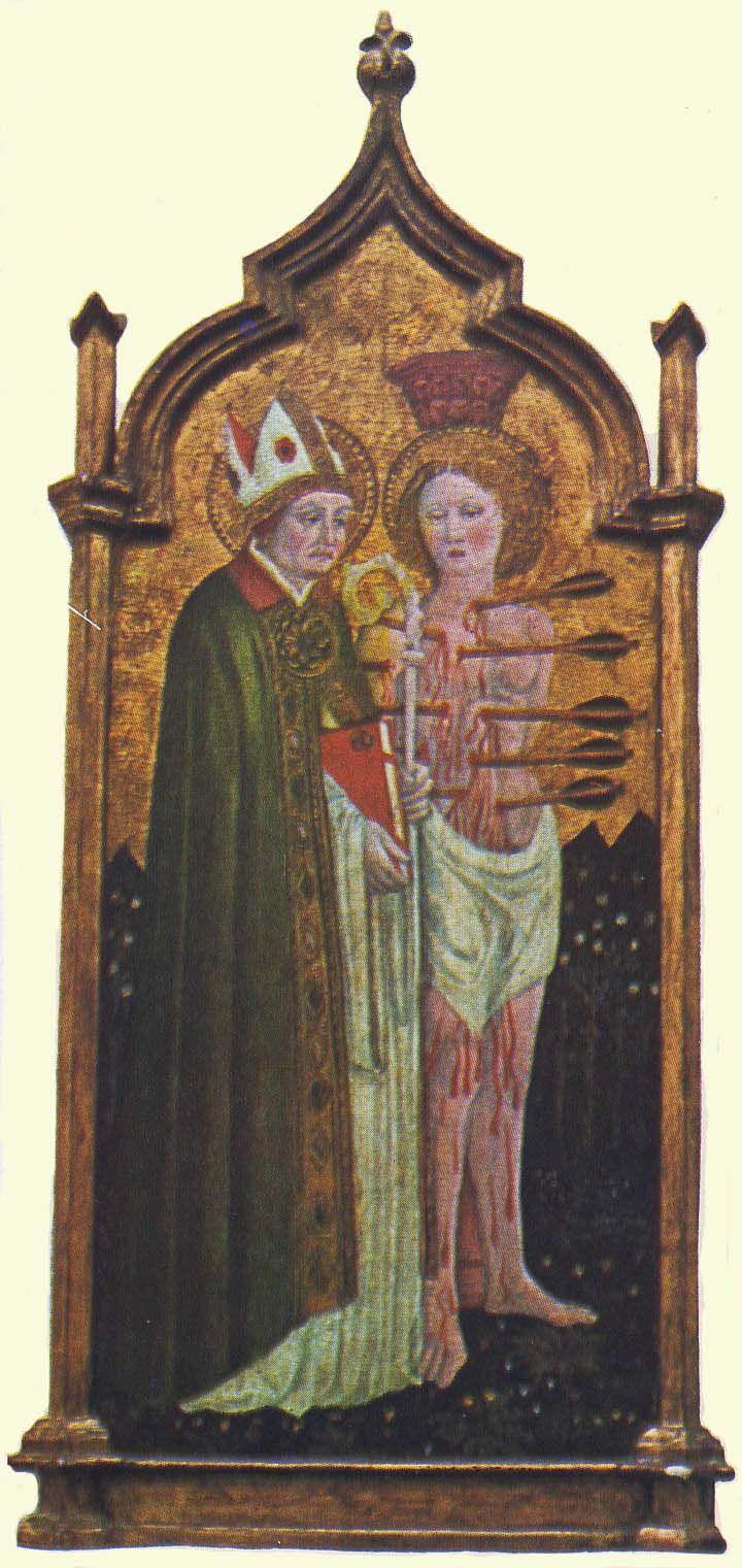 Бенедетто Бонфильи. Св. Августин и Св. Себастьян, XV в.