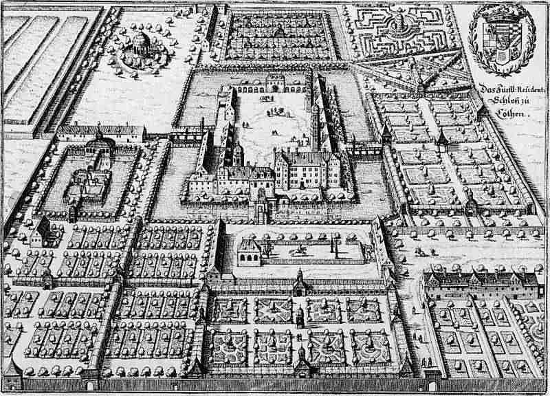 ������ � ���� � ʸ����, ������� �� ����� �Topographia� �������� �������, 1650 ���