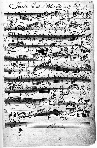 ������ ��� ������� ���� ����� (BWV 1001), �������� ����