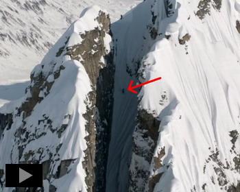 Сумасшедший спуск на лыжах в горах Тордрилло, Аляска